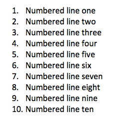 numbered-line-example